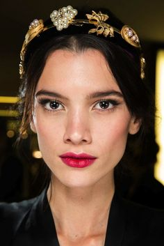 The Beauty Looks From Dolce & Gabbana F/W 2015 Are Pure Romance via @WhoWhatWear