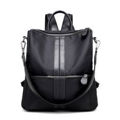 897d4f38849a Multifunction Lady Women School Bags For Teenagers Girls Cute Solid Nylon Women  Backpack Bag School Backpacks Female Bags F91-in Backpacks from Luggage ...