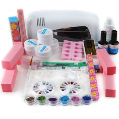 Coscelia Salon Polish Topcoat Kit 9W UV Gel Lamp Dryer Nail Art Manicure Tips Set *** This is an Amazon Affiliate link. Click on the image for additional details.