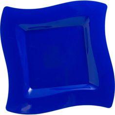 Royal Blue Premium Plastic Wavy Dinner Plates 10ct - Party City  sc 1 st  Pinterest & CLEAR Plastic Wavy Bowls 10ct - Party City | Graduation party ...
