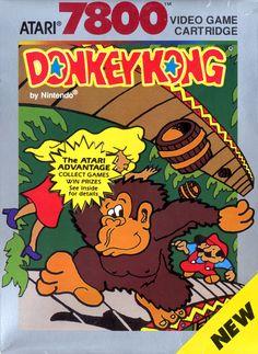 Donkey Kong - Atari 7800 Box