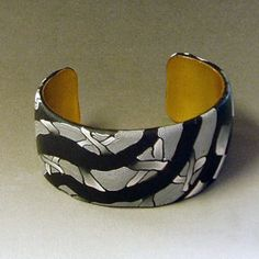 zentangle polymer clay cuff by Alice Stroppel