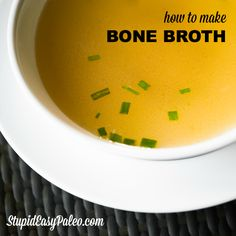 A tutorial for making the best bone broth, including a simple recipe. Click here to learn how to create excellent bone broth at home.