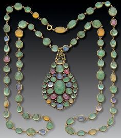 Necklace Louis Comfort Tiffany, 1900 - don't think it's truly Art Nouveau, but I like the colors