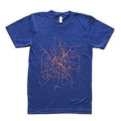 Paris Tee Tri-Indigo, $26, now featured on Fab.