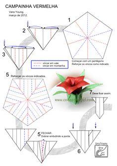 """Diagrama da Flor do Mato """"Campainha Vermelha"""" -  Vera Young - pg 1"""