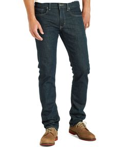 045110408 A modern slim with room to move, the 511 Slim Fit Stretch Jeans are a classic since right now. These jeans sit below the waist with a slim fit from hip to ankle. This pair of denim has just the right amount of stretch for all-day comfort. Skinny Fit Jeans, Slim Jeans, Jeans Pants, Levis Jeans, Mens Levi Jeans, Tall Jeans, Men Shorts, Men's Denim, Khaki Pants
