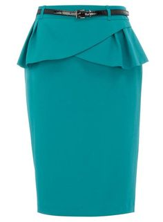 Jade peplum pencil skirt <3 this trend