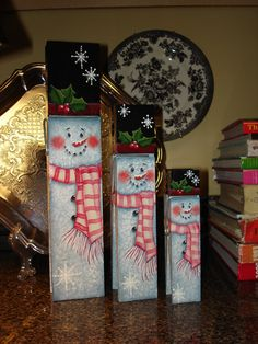 Snowman Memo Clips