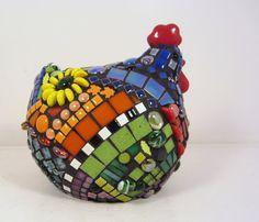 Mosaic 3d Chicken HENRIETTA HEN perfect gift for any by JillsJoy,
