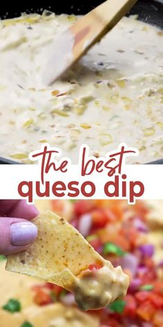 HOMEMADE QUESO DIP is a must in our house on taco night! We love how creamy and flavorful this queso recipe is. There's no Velveeta lurking inside, but it's still perfectly smooth and creamy thanks to my secret ingredient! Mexican Dishes, Mexican Food Recipes, Mexican Cheese Dips, Mexican Desserts, Drink Recipes, Appetizer Dips, Appetizer Recipes, Mexican Appetizers, Dinner Recipes