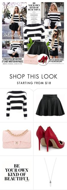 """""""Leaving the past"""" by wambui ❤ liked on Polyvore featuring Boutique Moschino, Chanel, Valentino and Marc Jacobs"""