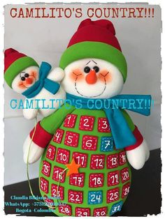 Felt Crafts, Diy And Crafts, Christmas Crafts, Christmas Decorations, Christmas Ornaments, Holiday Decor, Felt Christmas, Christmas Time, Advent Calenders
