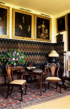 16th Century Italian House Interior | Parham House and Gardens ~ The 16th century Italian wool wall hangings ...