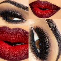 21 Rote Lippen Make-up Ideen Rote Lippen Make-up Ideen Lippen . - 21 Make-up-Ideen für rote Lippen Rote Lippen-Make-up-Ideen Lippen Auge - Pretty Makeup, Love Makeup, Sexy Makeup, Perfect Makeup, Makeup Looks For Red Dress, Clubbing Makeup, Seductive Makeup, Perfect Brows, Amazing Makeup