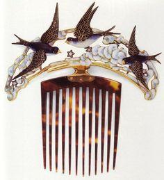 Lots of René Lalique Art Nouveau jewellery designer...