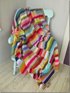 And had a leftover yarn stash Knit as long scarves and then mattress stitched together. Oh yes, perfect leftover yarn stash buster!