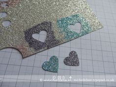 Hearts - coloring your own glitter paper 2-27-13