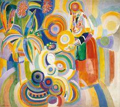 "Robert Delaunay ""Tall Portuguese Woman"" 1916 Wax on canvas, Museo Thyssen-Bornemisza, Madrid"
