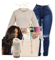 """Recap of Winter"" by melaninprincess-16 ❤ liked on Polyvore featuring Forever 21, MICHAEL Michael Kors and UGG Australia"