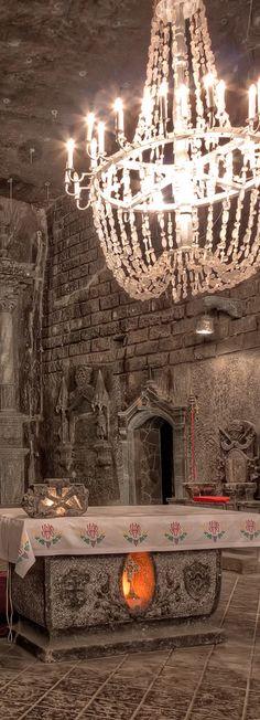 Altar in St. Kinga's Chapel in the Wieliczka Salt Mine - Wieliczka Town, near Krakow | Poland