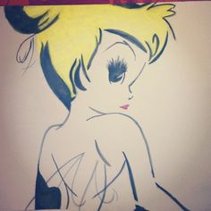 princess-elune:    Random picture of Tinkerbell I painted 2 years ago or so haha aw