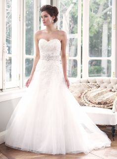 Luv Bridal - M1305L Delicate lace Wedding Dress with Detachable cap sleeves, $0.00 (http://www.luvbridal.com/m1305l-delicate-lace-wedding-dress-with-detachable-cap-sleeves/)
