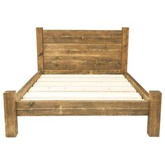 solid wooden chunky bed frame in a choice by - Wood Bed Frame Queen