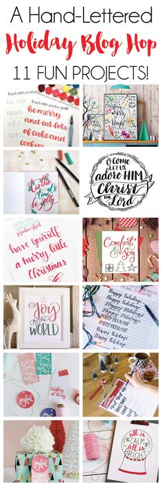 A Hand Lettered Holiday: Lettering on Photos + 10 More fun projects! | DawnNicoleDesigns.com