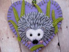 Spring has sprung, and little Hedgie is out exploring the sweet green grass. I would love to make one of these adorable ornaments just for you! Would you like the ornament personalized for that special someone? If so, I will be happy to embroider initials or a short name (up to 5 letters or 6 skinny ones) on my leaf label on the back of the ornament. Just put a note on your order or send me an Etsy convo with the details. (Please check the *note at the end of this listing for information on…