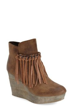 Love these but wish they were leather... And didn't look like two other pairs I already own. Sbicca 'Zepp' Fringe Bootie (Women) available at #Nordstrom