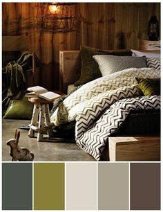 neutrals with olive green | ... of a mossy green with deep olive make this the perfect nature retreat