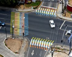 """Color Aditivo"" at Parque recreativo y cultural Omar, Panama City by… Colour Architecture, Landscape Architecture, Landscape Elements, Landscape Design, Urban Bike, Indoor Farming, Pedestrian Crossing, Urban Intervention, Street Painting"