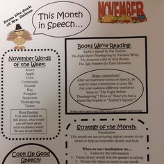Practically Speeching: Monthly Newsletter FREEBIE! (For November) Pinned by SOS Inc. Resources. Follow all our boards at pinterest.com/sostherapy/ for therapy resources.
