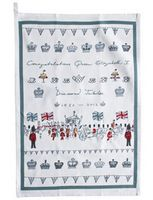 Tea Towel - 'Diamond Jubilee' from Sophie Allport Personalised Gift Shop, China Mugs, Kitchen Linens, Mail Art, Word Art, Tea Towels, Tea Pots, Diamond, Words