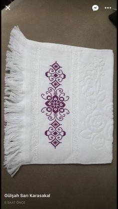 Really nice Cross-Stitch towel and pattern. Cross Stitch Borders, Cross Stitch Alphabet, Cross Stitch Designs, Cross Stitching, Cross Stitch Patterns, Embroidery Patterns Free, Lace Patterns, Beading Patterns, Embroidery Stitches