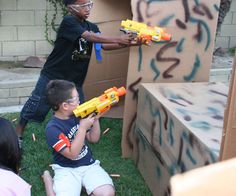Hello from Hero Dad*, i'd like to give you some simple tips on how to throw a rockin' Nerf gun birthday party. Essentially you just need to transform your backyard into a Nerf battlefield and the kids will do the rest. This is a sure fire way to have tons of fun at your next birthday party (ideal age is 6 to 12) for not much money (although there is a bit of work involved) using some easy to build Nerf games and Nerf battle modular forts. *Hero Dad defined: any dad trying to impress h...