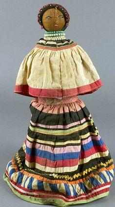 unknown Seminole artist (Seminole), Doll, ca. 1920, palmetto and cotton cloth,
