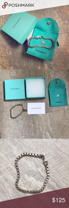 Authentic Tiffany & Co. Bracelet Authentic! Includes box, dust bag, and care card! Been sitting in a drawer as it is too large for my tiny wrist 😢 finally decided to sell. Tiffany & Co. Jewelry Bracelets