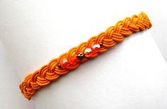 "°☀. Bracelet Coton Ciré ""Eté Acidulé Orange"" °☀."