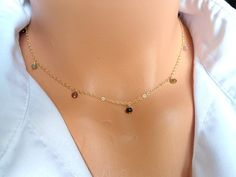 Tourmaline Gold Filled Necklace Tourmaline by BeaJewelry on Etsy, $45.00