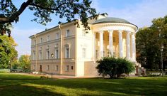 Pictured is the Vladimir Palace in the town of Tsarskoe Selo, 15 miles south of St. Petersburg.  This palace belonged to Grand Duke Vladimir and his wife Maria Pavlovna.  Grand Duke Vladimir was an uncle of Tsar Nicholas II.
