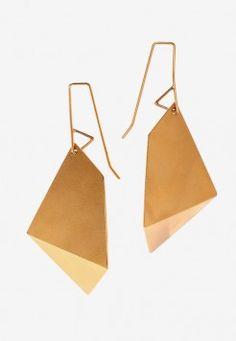 Sarah Loertscher-Large Single Fold Earrings $185