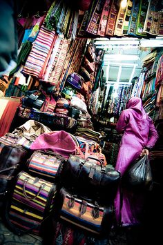 Souk, Marrakech, Morocco.........drove all over the country, great food, bought rugs & pottery