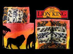 Lion King Safari Layer Cake - How to Make an Animal Print INSIDE Surprise Cake - YouTube