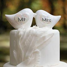 Bird Themed Wedding Ideas - Porcelain Love Birds ( Link - http://OccasionsInPrint.carlsoncraft.com/Weddings/Reception-Essentials/ZB-ZBK20764-Porcelain-Love-Birds.pro)