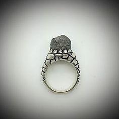 Handmade Raw Diamond Silver Ring | eBay
