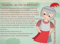Ser Mais!: Dia de S. Martinho Crafts For Kids, Teddy Bear, Animals, Fictional Characters, Halloween, Senior Citizen Activities, Treasure Hunting, Kids Corner, Texts
