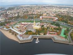 Aanand's Space: St.Petersburg in aerial view, St. Peter and Paul Fortress.
