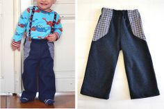Kinderhose aus Wollrock / Children's pants made from woollen skirt / Upcycling